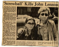News clipping John Lennon